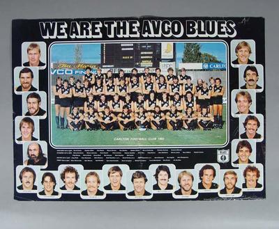 Photograph of Carlton Football Club, 1982
