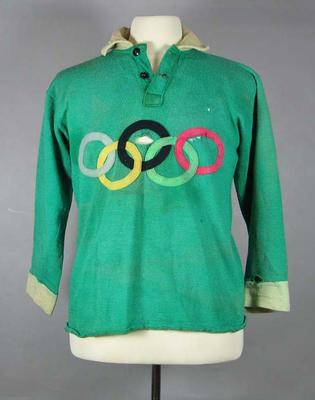 Guernsey worn by Denis Cordner during an Australian Rules exhibition match at the 1956 Olympic Games; Clothing or accessories; M15774