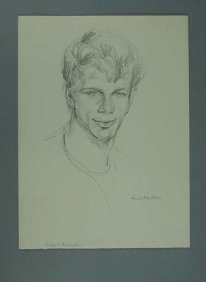 "Drawing of Bernard ""Midget"" Farrelly, by Louis Kahan; Artwork; 2006.5122"