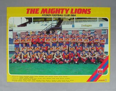 Photograph of Fitzroy Football Club, 1984