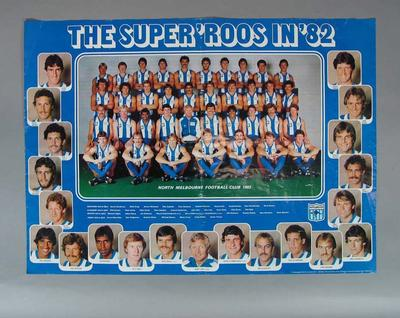 Photograph of North Melbourne Football Club, 1982; Documents and books; 2001.3811.3