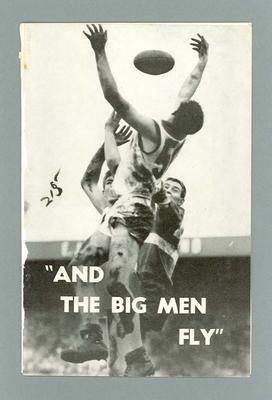 """Programme for the play """"And the Big Men Fly"""""""