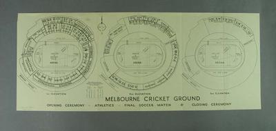 MCG seating plan for 1956 Olympic Games Events sent to MCC Members