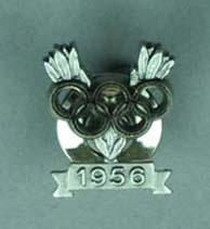 Silver medallist victory pin awarded to Kevan Gosper, Melbourne Olympic Games, 1956