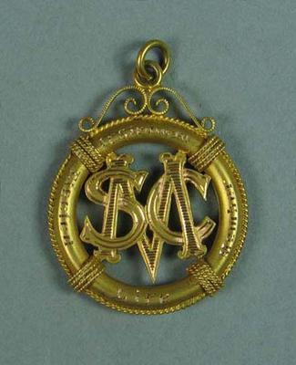 MSC life membership medallion, presented to Ivan Stedman - 1927-28
