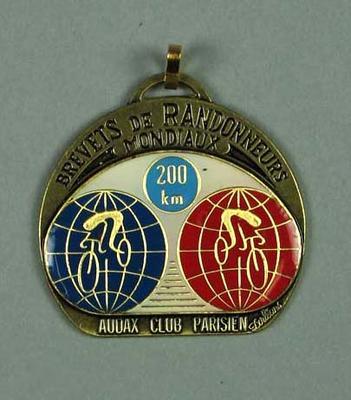 Medallion, Audax Club Parisian Brevets de Randonneurs Mondiaux 200km