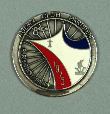 Medallion, Audax Club Parisien Paris-Brest-Paris 1975