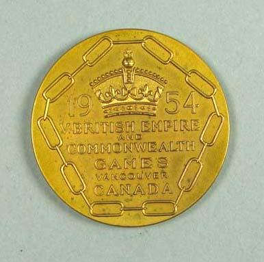 Participation medal - 1954 British Empire & Commonwealth Games Canada, presented to Glyn Bosisto