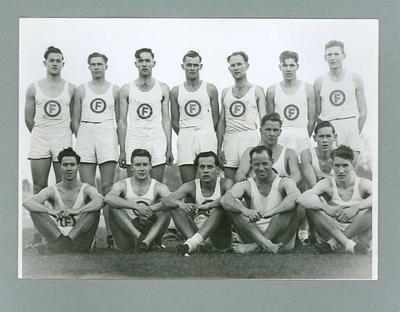Photograph of members of the Footscray Harrier Club, Ballarat 17 June 1946