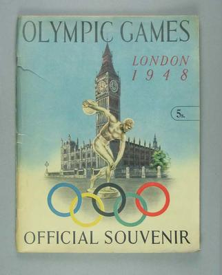 Official Souvenir of 1948 London Olympic Games
