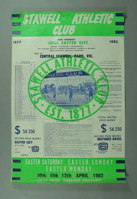 Poster, Stawell Easter Gift 1982