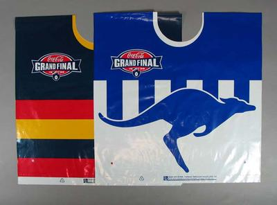 Ponchos x 3 - 1998 Grand Final supporters ponchos - North Melbourne and Adelaide Crows