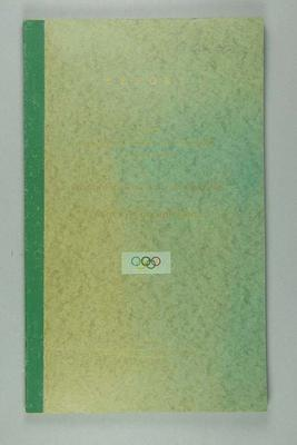 Report on the NSW and Victorian campaign to promote Australia's participation in the 1964 Olympic Games; Documents and books; 1989.2095.4.1