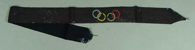 Hat band - 1956 Olympic Games used by W. Ager as an Official at the Melbourne Games.