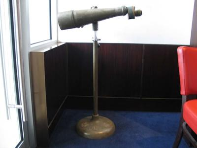 Pair of binoculars affixed to a stand, taken from a Japanese cruiser in WWII