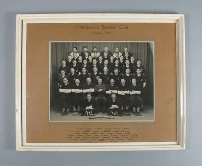 Photograph of Collingwood Baseball Club, 1949