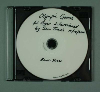 DVD - Interview with William Ager by Sam Travis on 15 October 200