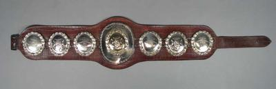 Australian Welterweight Championship belt, presented to Micky Tollis 1950