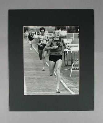 Photograph of Judy Pollock winning an 800m race, 24 Feb 1972