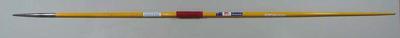 Yellow metal javelin, date unknown