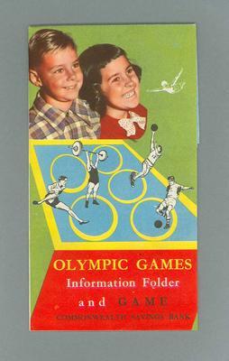 "Leaflet - Commonwealth Bank ""Information Folder and Game"""