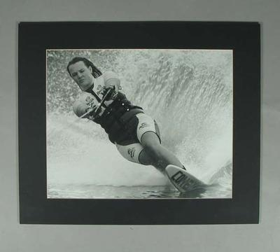 Photograph of water skier during Moomba Waterfest, date unknown