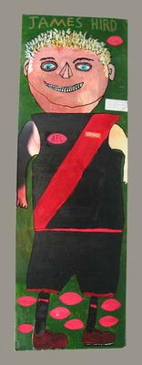 Portrait of footballer James Hird painted by 10 year old Joseph Fitzpatrick; Artwork; 2003.3898