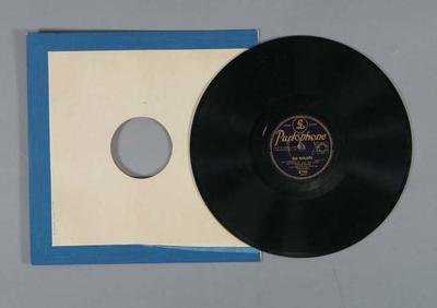 "Vinyl record, ""Our Marjorie"" c1952"