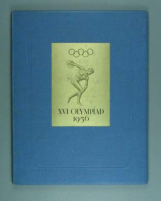 Bid for Melbourne to host 1956 Olympic Games