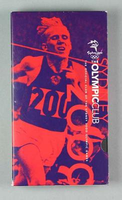 VHS Video Cassette - The Official Club of the Sydney 2000 Olympic Games' No. 3