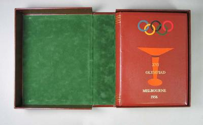 "Book, ""The Official Report of the Organizing Committee - 1956 Olympic Games"""