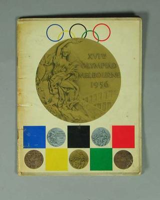 """Booklet, """"XVIth Olympiad Melbourne 1956"""""""
