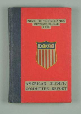 American Olympic Committee report of 1928 Olympic Games