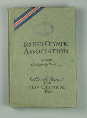 Official Report of 1924 Paris Olympic Games