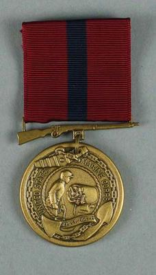 Facsimile US First Marines military stripe medal, associated with the military occupation of the MCG; Trophies and awards; M15913