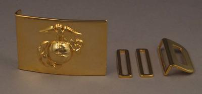 US First Marines dress uniform belt buckle, associated with the military occupation of the MCG; Clothing or accessories; M15920