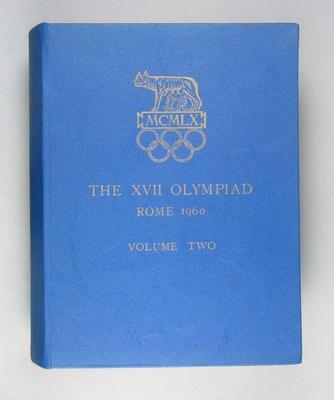 Organising Committee report of 1960 Rome Olympics, Vol 2