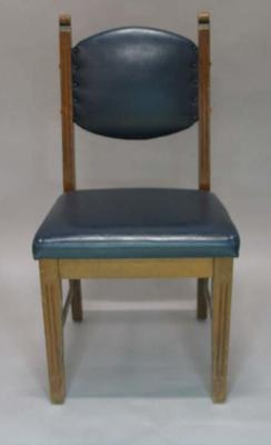 Wooden chair used in the Long Room, c1980s
