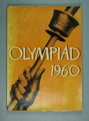 """Book, """"Olympiad 1960"""""""