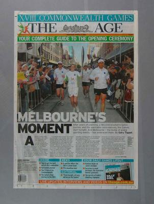 """'The Age' - """"Your Complete Guide to the Opening Ceremony"""", 2006 Melbourne Commonwealth Games"""
