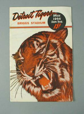 Score book, Detroit Tigers Briggs Stadium 1956