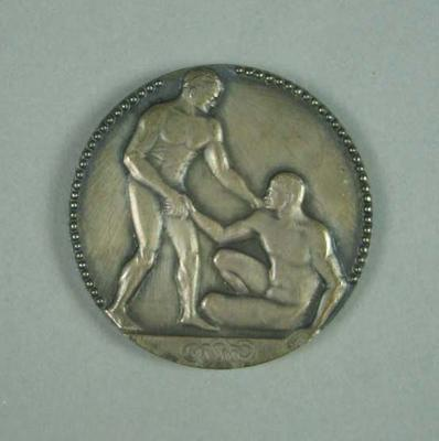 Silver medal for 1924 Paris Olympic Games 4 x 200 metres freestyle, won by Frank Beaurepaire