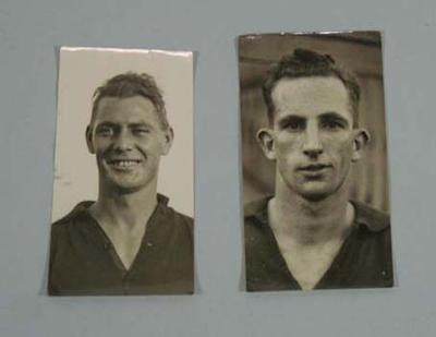 Two photographs of unidentified footballers, c1930s; Photography; 1991.2517.6