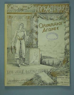 Report of the 1896 Olympic Games