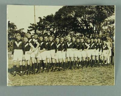 Black and white photograph  - Victorian State Football Team in the 1920s.; Photography; 1987.1491.4