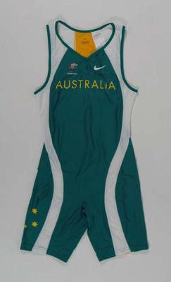 Men's athletic bodysuit, 2000 Australian Olympic Games team uniform
