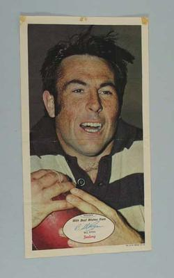Poster, features image of Bill Ryan c1970