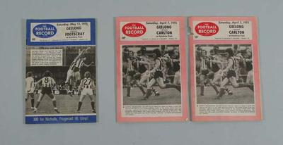 Three Football Records, 1973 VFL Season