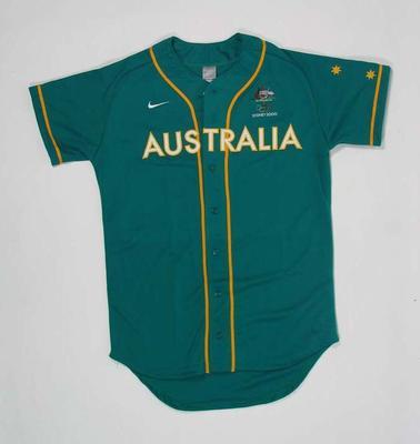 Men's baseball top, 2000 Australian Olympic Games team uniform