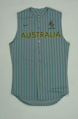Men's baseball top, 2000 Australian Olympic Games team uniform
